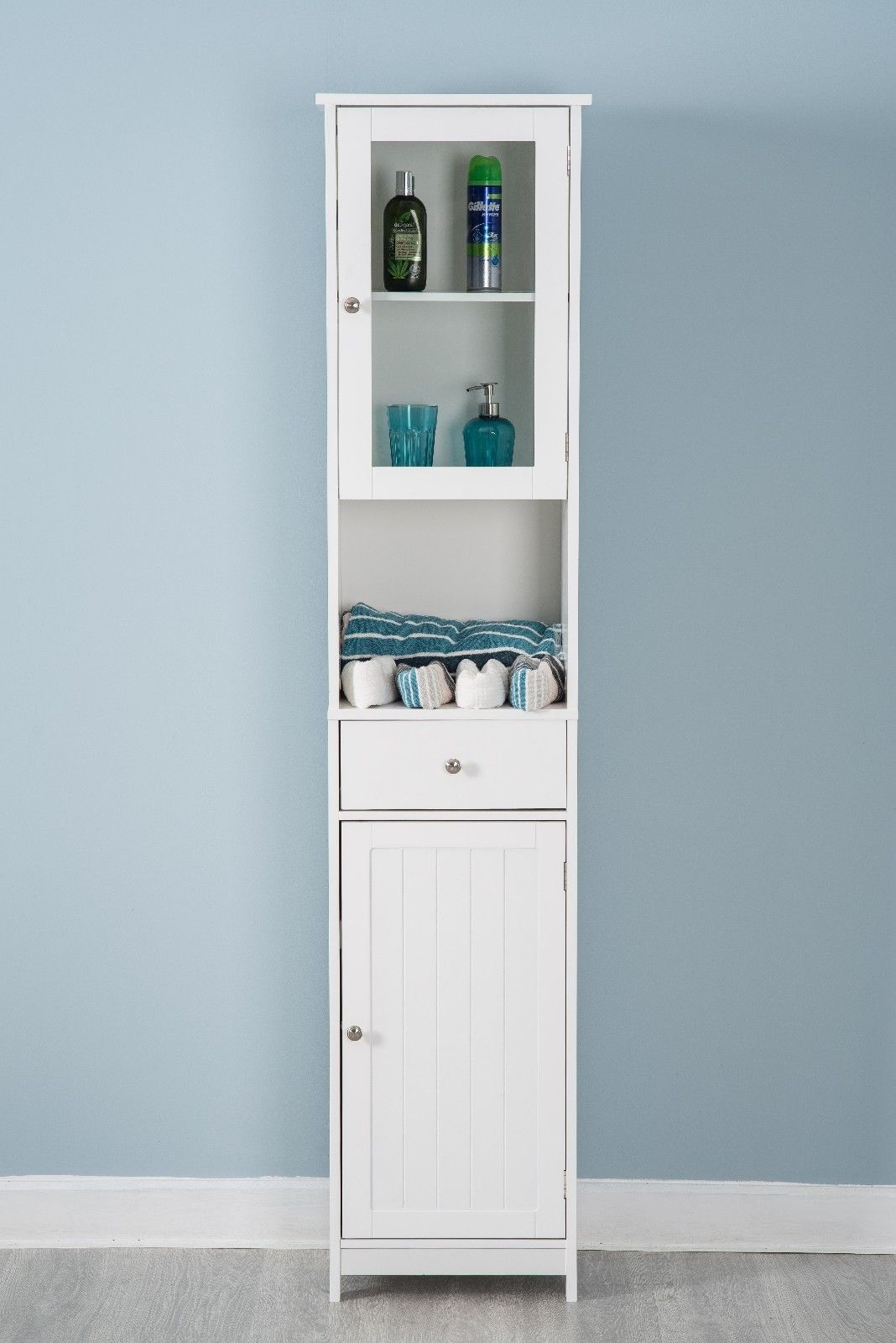 Bathroom Cabinet Double Door Wall Mounted Tallboy Cupboard ...